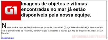 Mensagem fraudulenta sobre o voo AF 447
