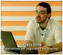 Altieres Rohr em entrevista para o Fantástico