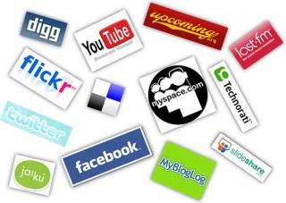 Logotipos de redes sociais