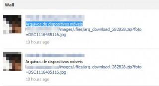 Mensagem no Facebook. (Foto: Reprodução)