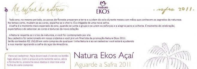 Natura Ekos 2011 (Foto: Reprodução)