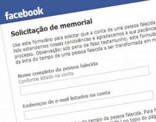 Página de solicitação de memorial no Facebook. (Reprodução)