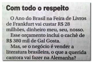 Nota do jornal O Globo. (Reprodução)