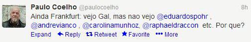 Mensagens do Paulo Coelho no Twitter