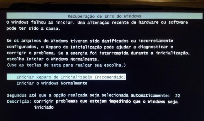 Erro em sistema após aplicação da atualização. (Foto: Luciana Leme/LD)