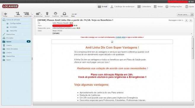 Servidor de spam bloqueado usando nomes diferentes. (Foto: Reprodução)