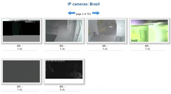 Site permite exibir câmeras por país de acordo com o endereço IP. (Reprodução)