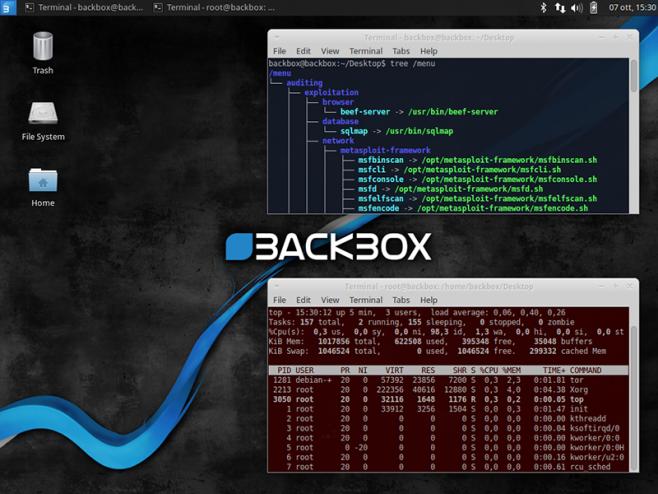 XFCE no BackBox (Reprodução/BackBox)